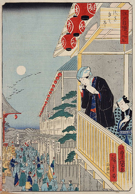 Thirty-six Views of the Pride of Edo, the Year-end Fair at Asakusa (Edo Jiman Sanjūrokkyō Asakusa Toshi no Ichi)