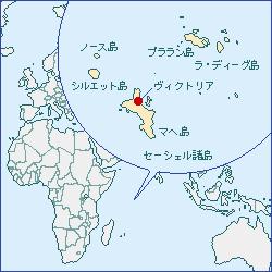 セーシェルの地図